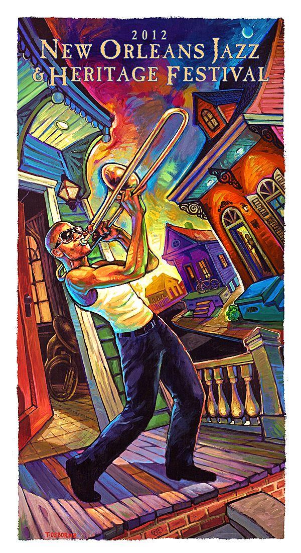 Trombone Shorty's Porch Song by Terrance Osborne   New Orleans dynamic duo. http://terranceosborne.com/shop/trombone-shortys-porch-song/