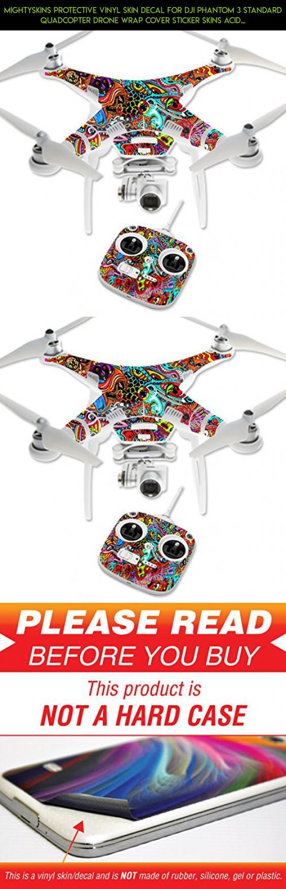 MightySkins Protective Vinyl Skin Decal for DJI Phantom 3 Standard Quadcopter Drone wrap cover sticker skins Acid Trippy #fpv #kit #3 #stickers #gadgets #tech #drone #dji #camera #standard #technology #phantom #plans #shopping #racing #products #parts