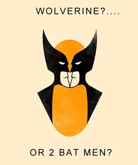 【トリックアート】この絵の中に何が視えますか? ウルヴァリン? それとも2人のバットマン?