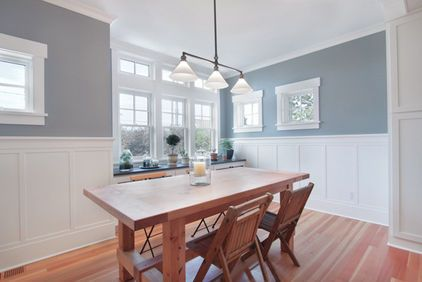 Sherwin Williams morning fog - this was the winning color for the mudroom!  Yeah we have it at home and the project is moving forward!