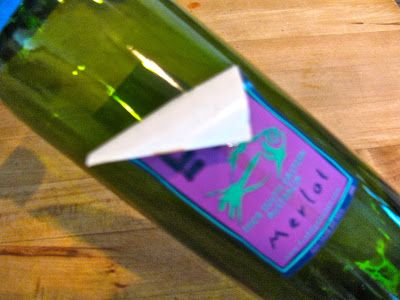 How do you remove wine labels?