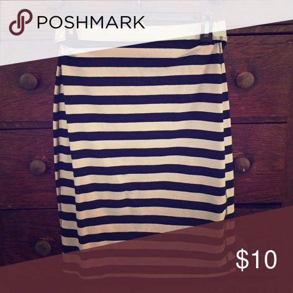 Striped pencil skirt. Black and white Striped Pencil skirt. Material is super soft. Old Navy Skirts Midi