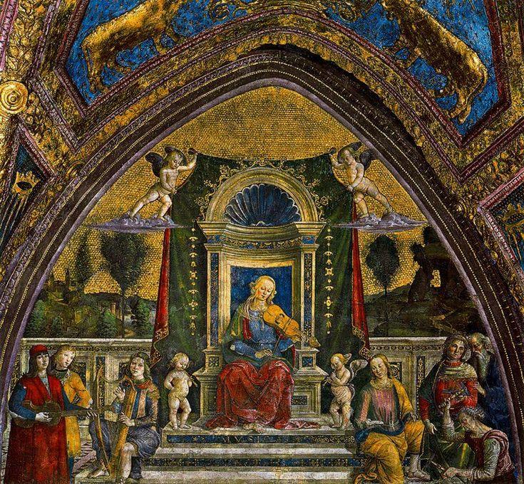 Appartamento Borgia-Musica-L'Appartamento Borgia è una serie di sei ambienti monumentali nel Palazzo Apostolico della Città del Vaticano, facenti oggi parte del percorso dei Musei Vaticani in cui è in parte ospitata, dal 1973, la Collezione d'Arte Religiosa Moderna