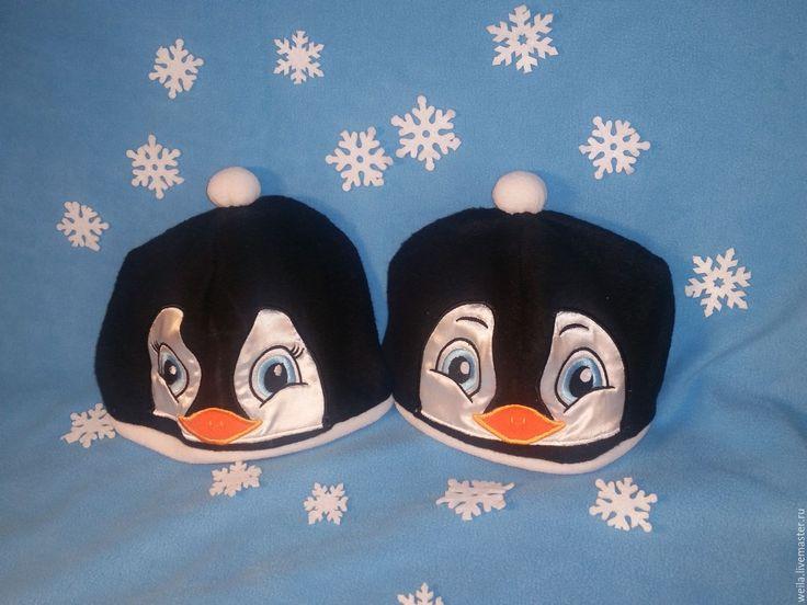 Купить Шапка Пингвин - чёрно-белый, реквизит, театральный, маскарадный, костюм, пингвин, шапочка, шапка