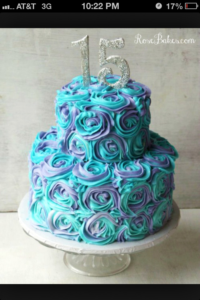 Aqua And Purple Roses Cupcakes Would Look Cute Maggie