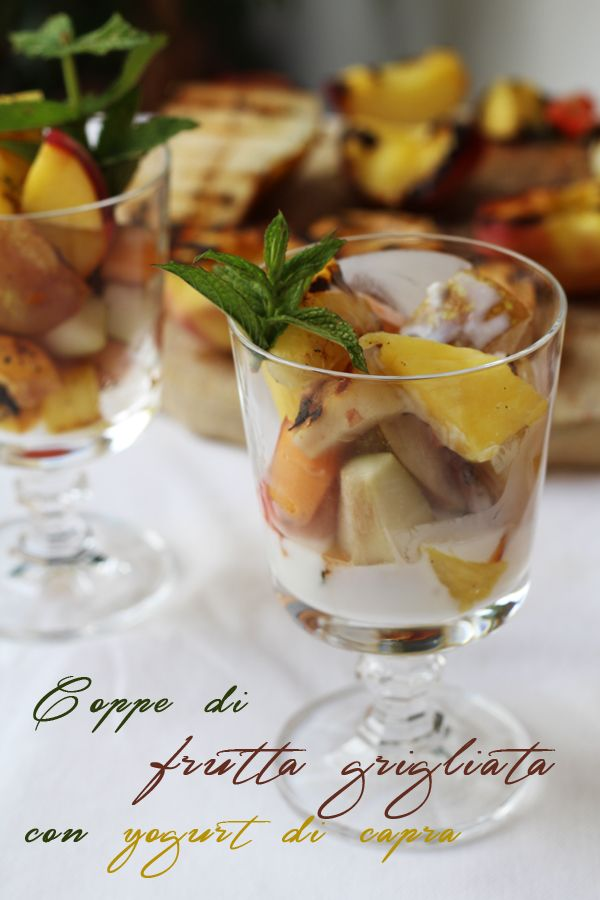 Coppe di frutta grigliata con yogurt di capra per lo speciale di Taste & More