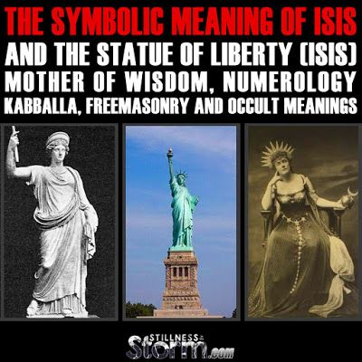 The Symbolic Meaning of ISIS And The Statue of Liberty (Isis) | Mother of Wisdom, Numerology, Kabballa, Freemasonry and Occult Meanings | Stillness in the Storm