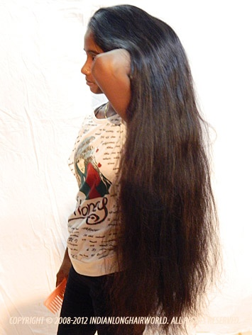 Long Hair Model of the Month September 2012. Swati with her long, thick thigh length hair...