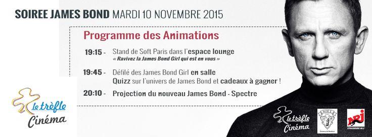 Concours: Gagnez des places pour la soirée #JamesBond au cinéma du Trèfle #Alsace