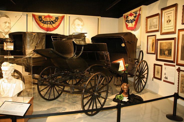 Carriage in which the Lincoln's rode in to Ford's Theatre on April 14th.
