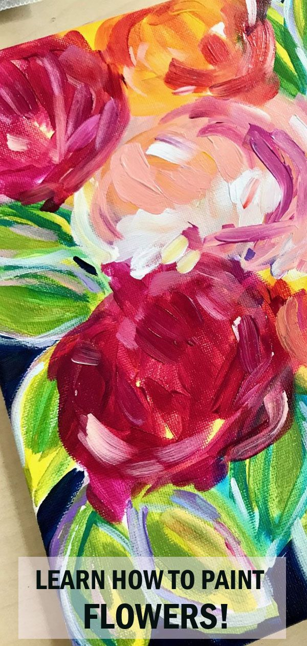 Elle Byers Has A New You Tutorial How To Paint Abstract