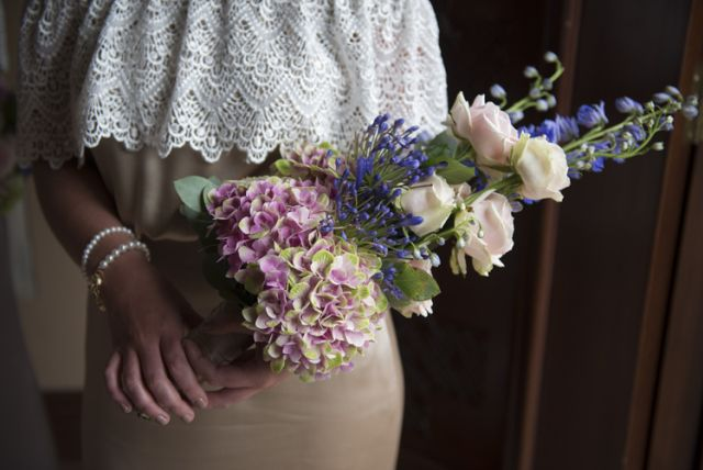 Bridesmaid Bouquet Flowers Summer Relaxed Bohemian Glamour Pink Blue Wedding http://sarahfyffe.ie/