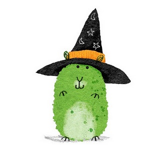 Witch's pet hamster. What a great inspiration for a thumbprint craft
