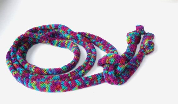 Skinny Hand Knit Scarf Multicolor Knitted Scarf Bodacious #SkinnyHandKnitScarf, #MulticolorKnittedScarf