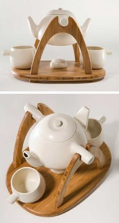 Tea for 2 set. - oh, I really love this idea, would be an interesting gift for a couple, maybe even a wedding gift for tea lovers