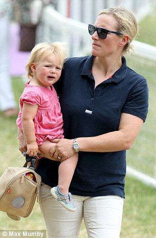 Mia Tindall throws a tantrum for mum Zara Phillips at the Gatcombe Horse Trials   Daily Mail Online