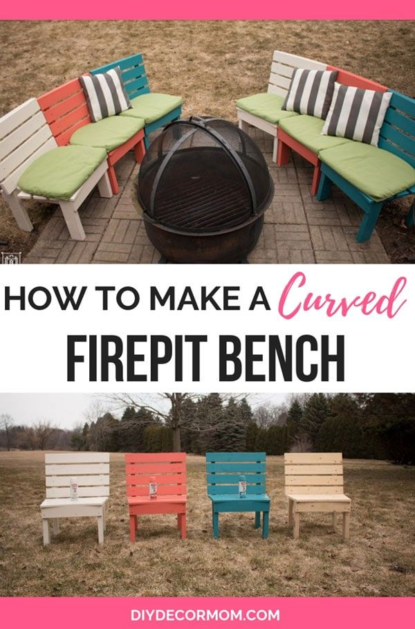 Fire Pit Bench How To Make A Curved Diy Fire Pit Bench Perfect For Providing More Seating With Backs Around A Fire Pit Bench Fire Pit Chairs Fire Pit Seating