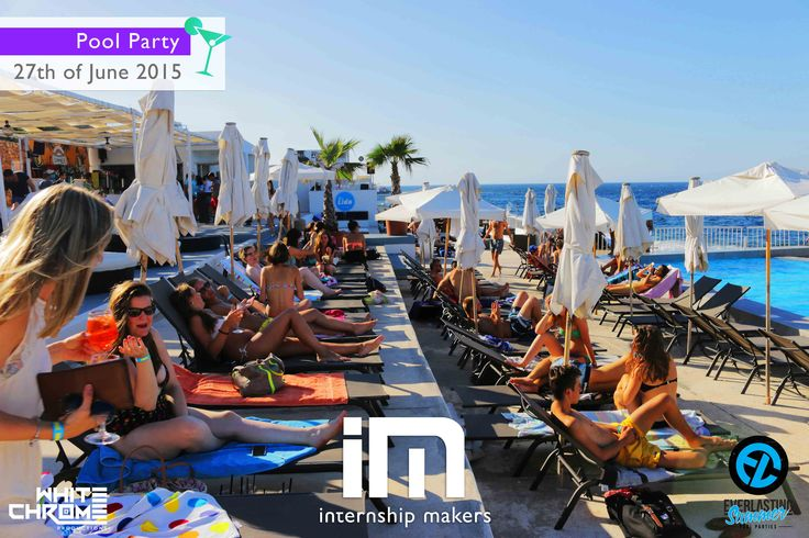 Pool Party - www.internshipmakers.com - Looking for an internship and/or an accommodation in Asutralia, London, Malta, Barcelona, Paris, Madrid, New York, Chile - Internship Makers takes care of everything for you ! Stage - logement à Londres, Malte, Paris, Asutralie, New York, Barcelone, Chili etc. Practicas - alojamiento en Londres, Malta, Nueva York, Paris, Barcelona, Australia Santiago de Chile etc.