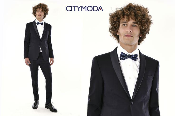 Se preferite essere notati elegantemente, la scelta è l'abito in #raso #Paoloni, abbinato alla camicia Alea Fashion ed alla fantasia a pois del #papillon Portofino.