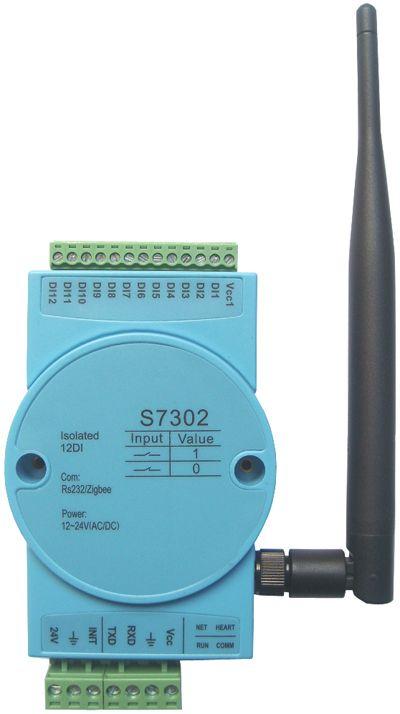 12 optocoupler isolation digital input switch module, ZIGBEE wireless module, MODBUS