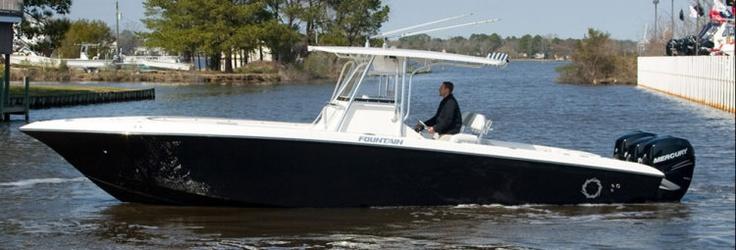 New 2012 Fountain Boats 34 Sportfish CC Open Bow Express Fisherman Boat - Very Good Looking Boat!