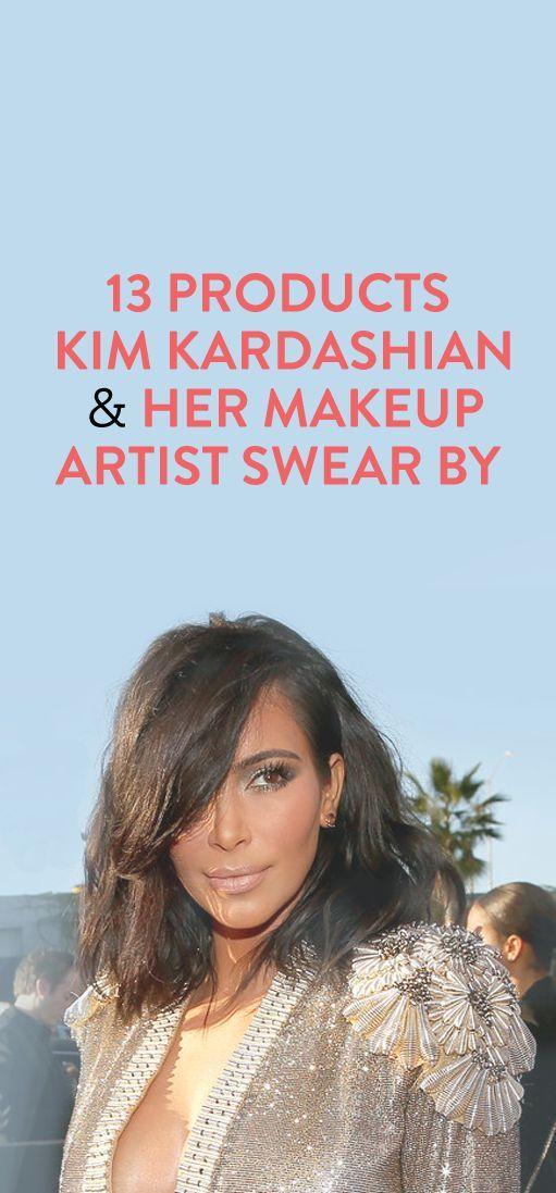 Products Kim Kardashian and her makeup artist swear by // via @bustledotcom