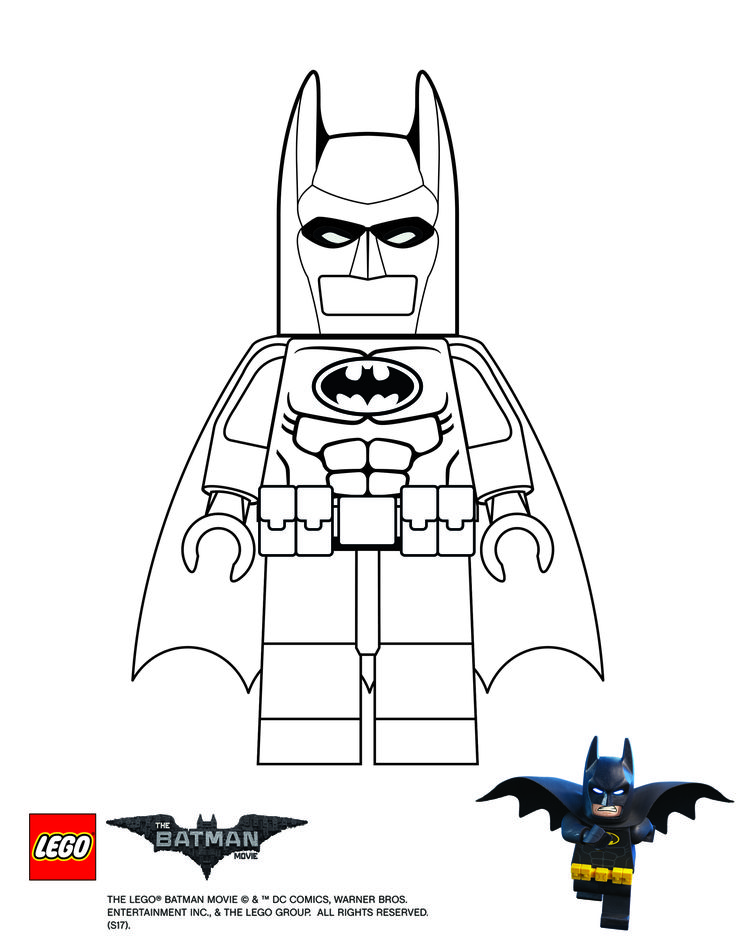 Lego Batman movie - Batman coloring page