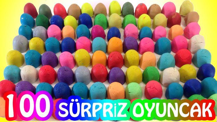 Play Doh Oyun Hamuru 100 Sürpriz Yumurta Oyuncak Açımı