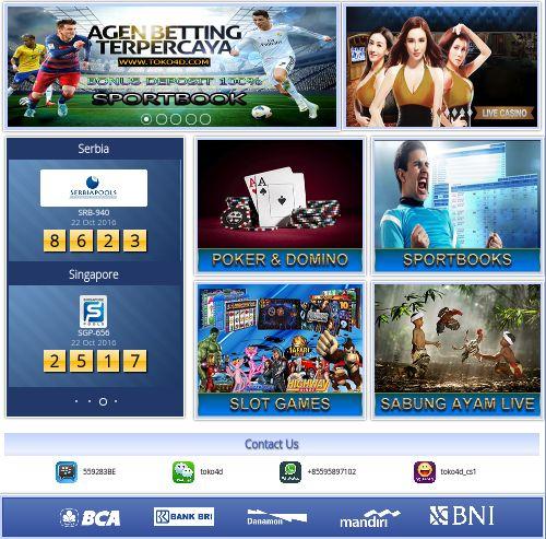 Toko4d.net Agen Togel Online Dan Bola Terpercaya Di Indonesia  - Judi Online - Bandar Live Casino Online - Bandar Togel - Taruhan Bola  Toko4d.net, Agen Togel Online Dan Bola, Terpercaya Di Indonesia   https://pokerdominoqqonline.medanseo.com/posts/toko4d-dot-net-agen-togel-online-dan-bola-terpercaya-di-indonesia/ https://www.youtube.com/watch?v=8qaMH78fXd8 Toko4d.net, Agen Togel Online Dan Bola, Terpercaya Di Indonesia