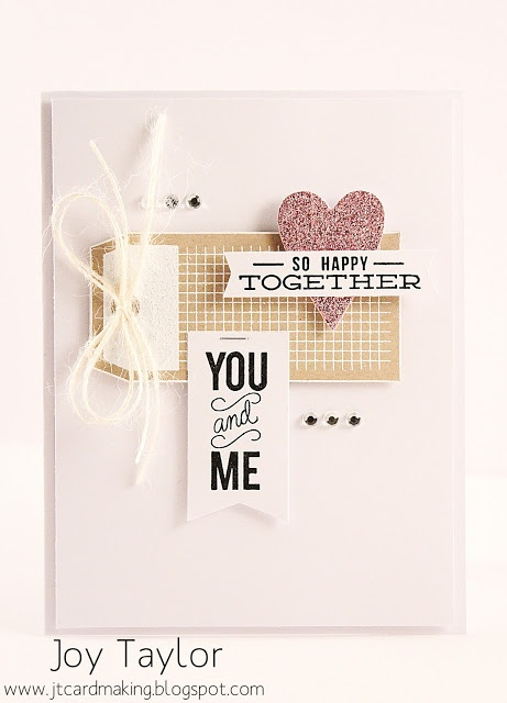 Just a Love Note and Autumn Stamp Sets used as well as Large Heart dies