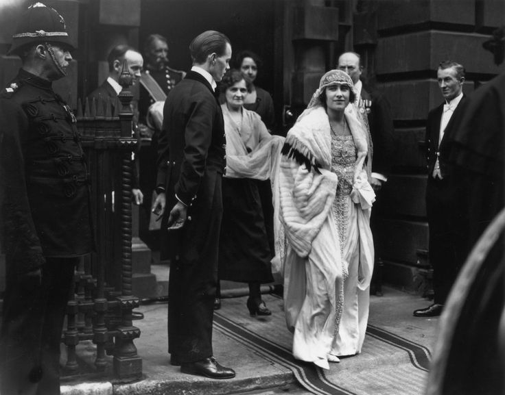 "Lady Elizabeth Bowes-Lyon on Her Wedding Day Marrying the Future George VI Lady Elizabeth Bowes-Lyon originally turned down ""Bertie's"" proposal in 1921 because she did not want the limitations on her life that being a member of the royal family would bring."