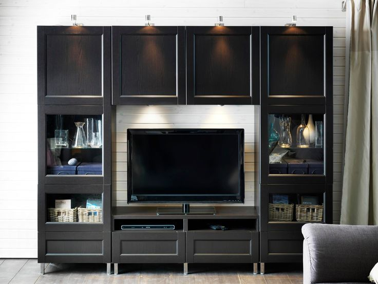 25 best ideas about black tv unit on pinterest ikea tv televisions for living rooms and ikea - Tv stands small spaces ideas ...