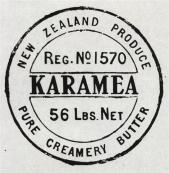 Karamea Butter stamp