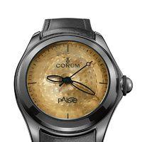 Corum - Bubble Paiste  Corum y el fabricante suizo de las mejores baterías del mundo se han unido para dotar a este icónico reloj retro de una esfera que es la versión exacta de un platillo de batería. Precio: 4.350 €