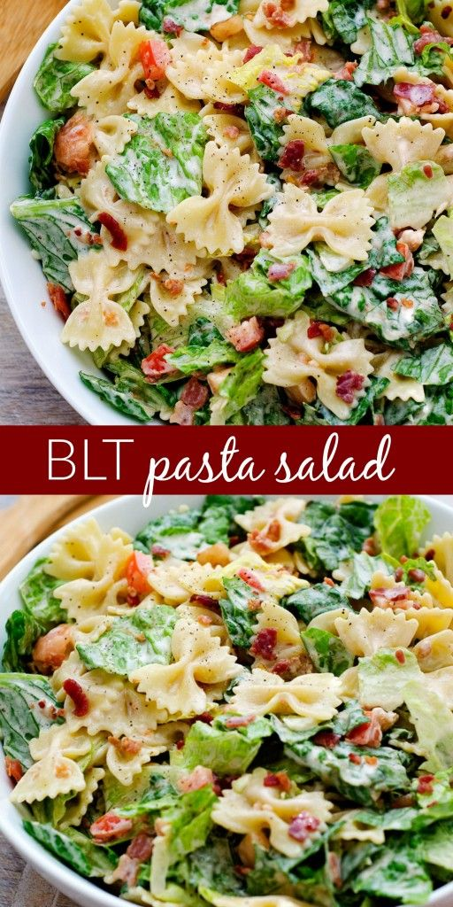 BLT Pasta Salad PIN                                                                                                                                                                                 More