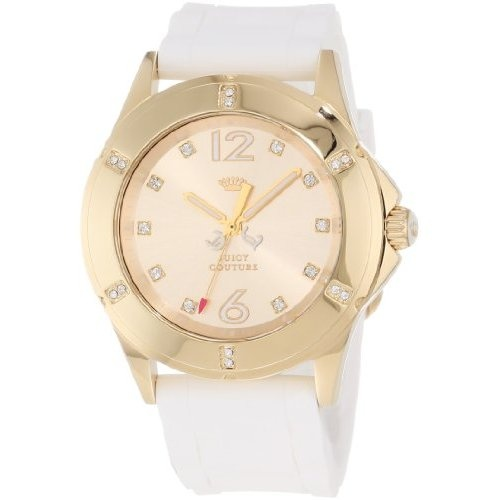 Watches promotional codes 2013 Juicy Couture Women's Rich Girl White Silicone Strap Watch