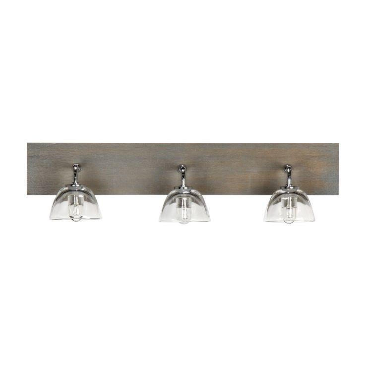 Applique 3 lumières de salle de bain BOIS Bois GRIS/BLEU - Willwood - Les appliques pour salle de bain - Eclairage de salle de bain et cuisine - Luminaires - Décoration d'intérieur - Alinéa