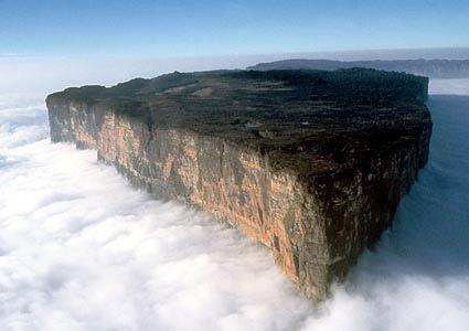 Monte Roraima in the border of Brazil, Venezuela and Guyana.