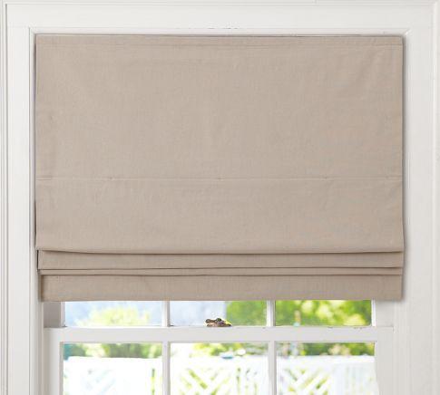 Plain linen cordless shade