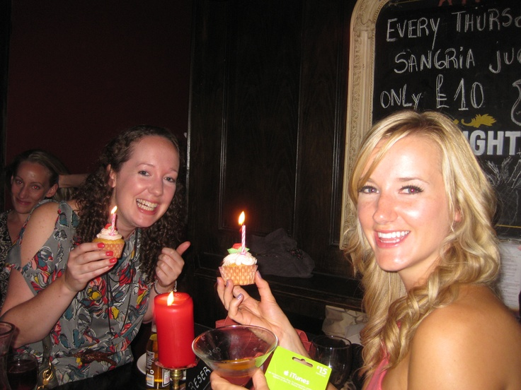 And here are Ann & Olivia enjoying their birthday cupcakes x