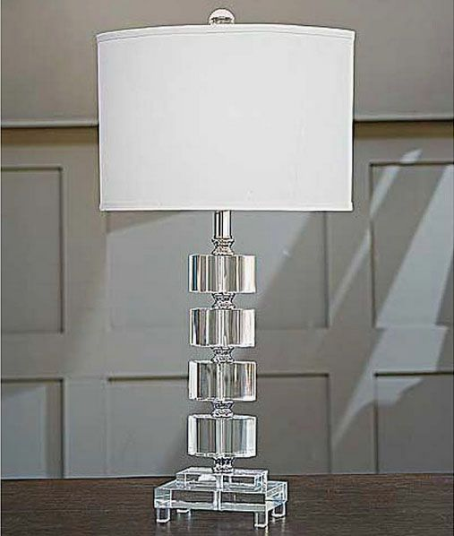 High Quality Regina Andrew Crystal Segmented Ovals Lamp: Regina Andrew Crystal Segmented  Ovals Lamp. Architecturally Correct