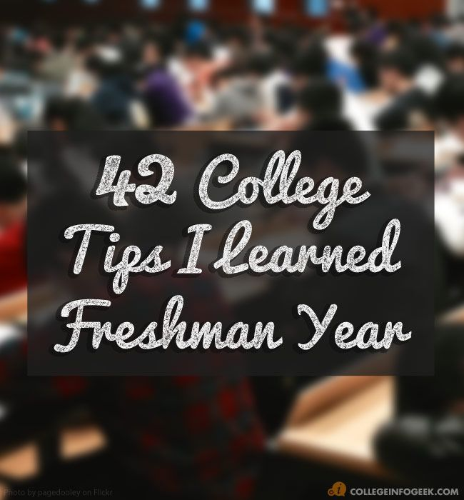 I learned a lot during my freshman year, though, and as I learned I began to focus on more productive things. Here's a collection of college tips and bits of info that helped me out a lot.