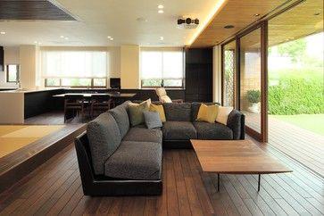 庭を取り込む家 - モダン - リビングルーム - 東京23区 - 住友林業ホームテック