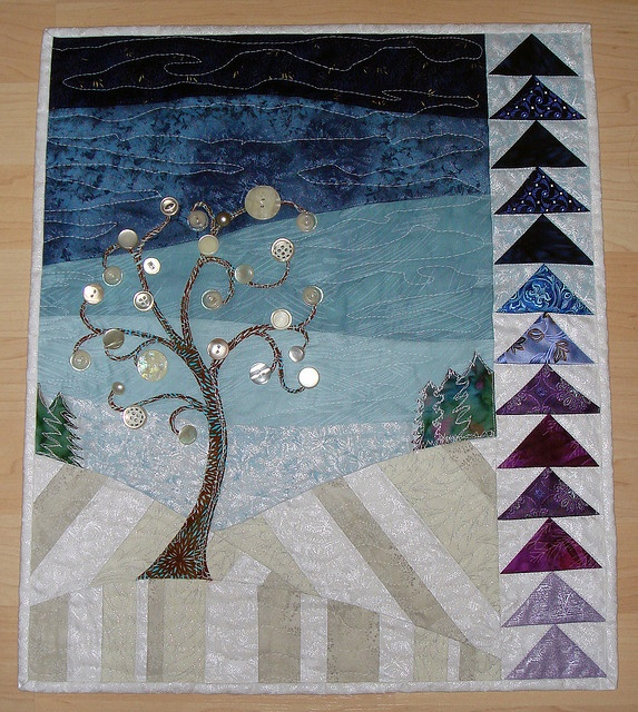 Wintery Button Tree, i want to make this!