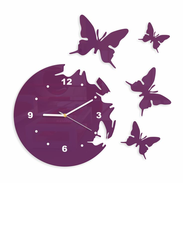 Wall Clock BUTTERFLIES by Deco Wizards