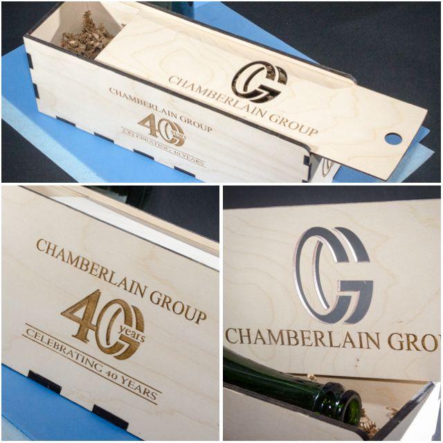 40 year milestone celebration, personalized wine box