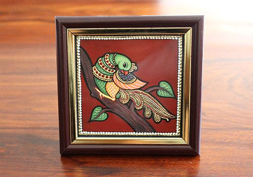 Tanjore Peacock Painting – Desically Ethnic  #Tanjorepainting #Homedecor #Homeandliving #Tanjore #Painting #Art #Shopnow #Onlineshopping #India #Ecommerce #desi #desicallyethnic #ethnic #home #peacock