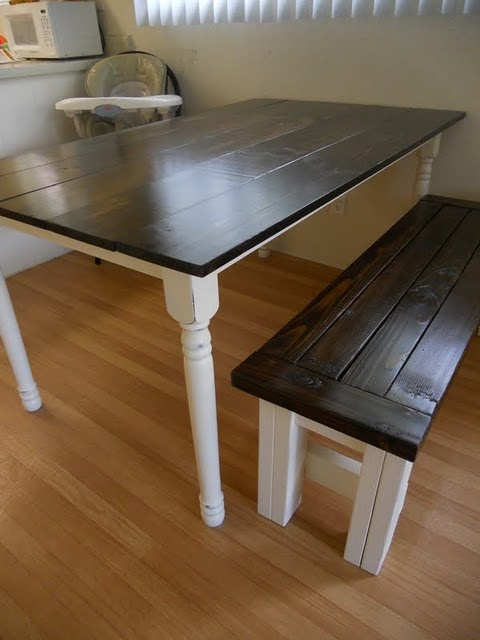 kitchen tableKitchens Benches, Kitchen Tables, Dining Room Tables, Kitchens Ideas, Future House, Farmhouse Kitchens Tables, Colors Schemes, Picnics Tables, Parks West