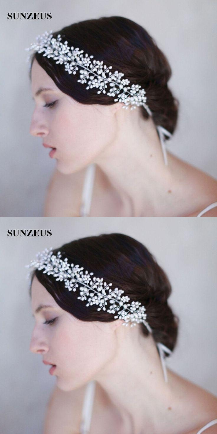 Accessoires Cheveux Mariage Pearls Head Chain 2017 New Fashion Wedding Hair Accessories For Brides Hair Sash SQ132