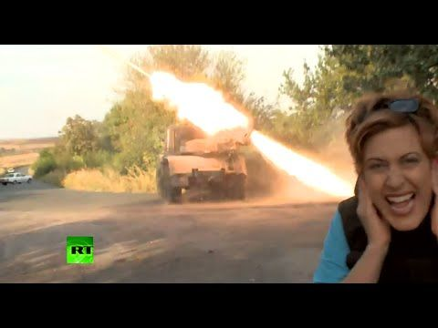 Deadly Thunder: Exclusive close-up footage of GRAD missile launcher in a...